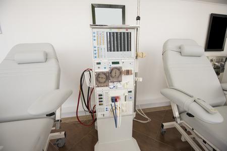 Gros plan de la machine de dialyse et un lit dans un centre médical Banque d'images - 40937973