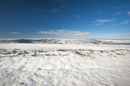 rural countryside: English rural countryside landscape scene in winter covered with snow Stock Photo