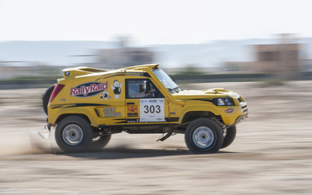 off road racing: EL GOUNA, EGYPT - MARCH 28TH 2014:  El Gouna Rally Cup desert rally on March 28th 2014 in El Gouna, Egypt. The opening day special time trial stage in El Gouna