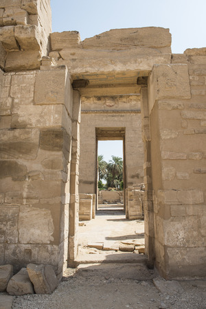 3rd ancient: Syrian gate entrance to the temple at Medinat Habu in Luxor