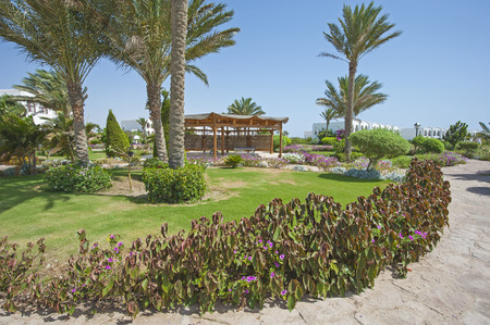 Formales Jardines, En Terrenos De Un Hotel De Lujo Tropical Complejo ...