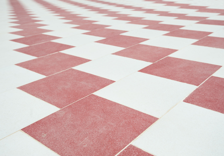 red wallpaper: Abstract red and white checked tile floor background wallpaper