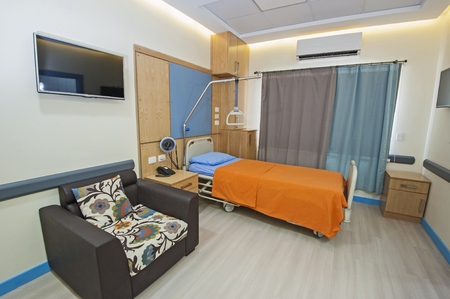 private hospital: Interior design of a private ward room in hospital medical clinic center