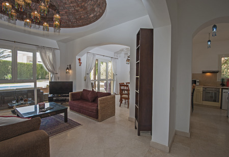 Living Room Lounge In Luxury Villa Show Home Showing Interior ...