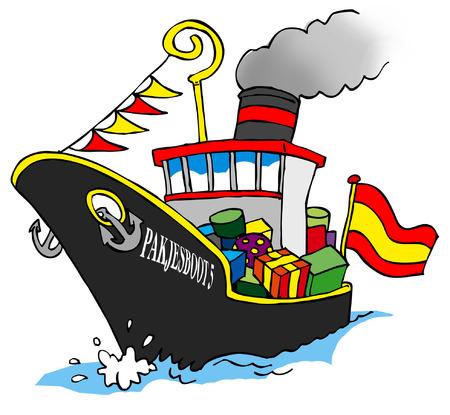 Sinterklaas Stoomboot, vapor Foto de archivo - 31523147