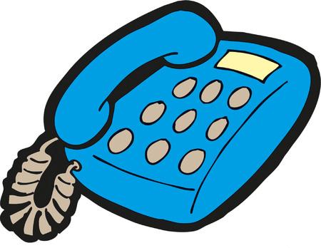만화 그림에서 오래 된 전화입니다.