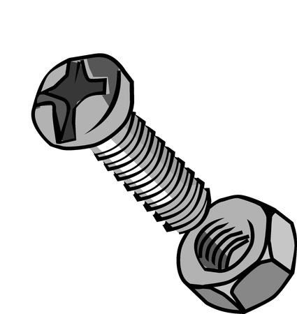 Illustration bolt and loose nut