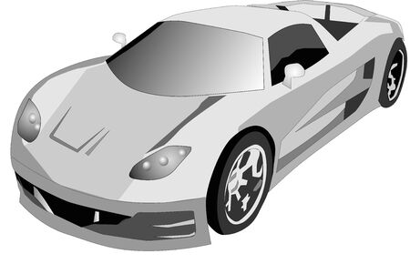 Illustration of a sports car