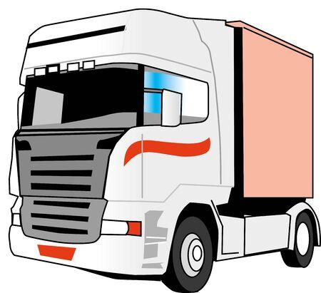 Illustration of a truck Illustration