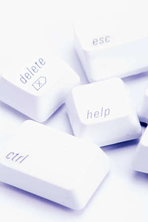 instruct: Various important computer command keys on white