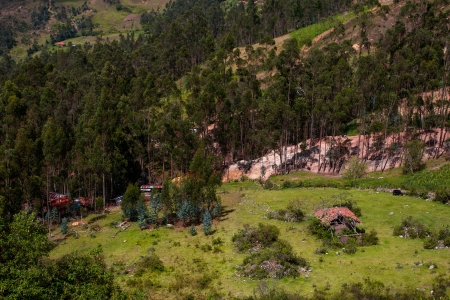 A farm  finca  below Cojitambo, a mountain located near Cuenca, Ecuador