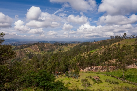 The view from below Cojitambo Mountain located near Cuenca, Ecuador