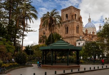 ecuador: Parque Calderon and La Catedral de la Inmaculada Concepción, Cuenca, Ecuador