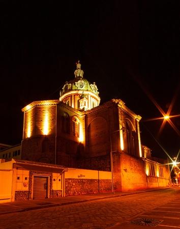 Side street behind Iglesia de San Blas, Cuenca, Ecuador