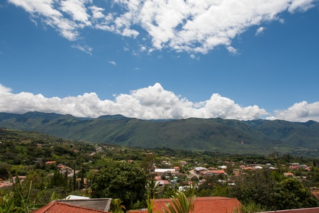 Yunguilla Valley and the city of La Union, Ecuador, nestled in the Andes Mountains  Zdjęcie Seryjne