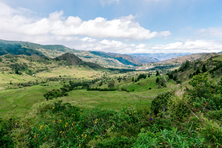 Yunguilla Valley in the Andes mountains of Ecuador.  This location is near the city of Girn south of Cuenca. Zdjęcie Seryjne