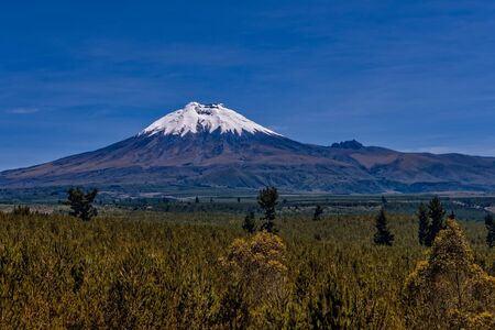 inactive: A view of Cotopaxi an inactive volcanic mountain in the Andes Mountains near Quito Ecuador. Stock Photo