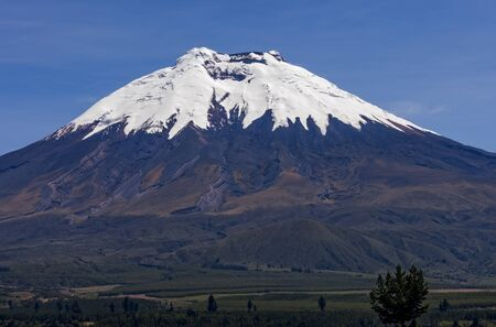 A close shot of Cotopaxi a volcano in the Andes Mountains near Quito Ecuador. Zdjęcie Seryjne