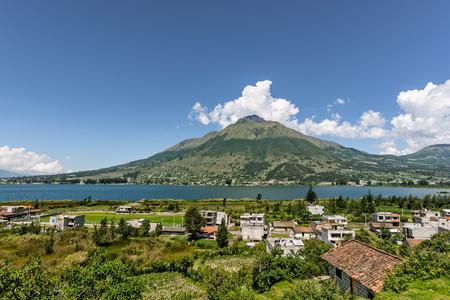 pablo: A view of Lago San Pablo in the Andes Mountains near Otavalo Ecuador. Stock Photo