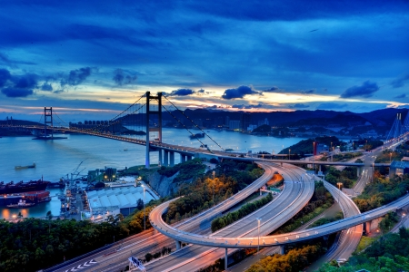 ma: Tsing Ma Bridge sunset