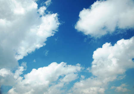 White cloud, blue sky, just after a rain. Stock Photo - 16831957