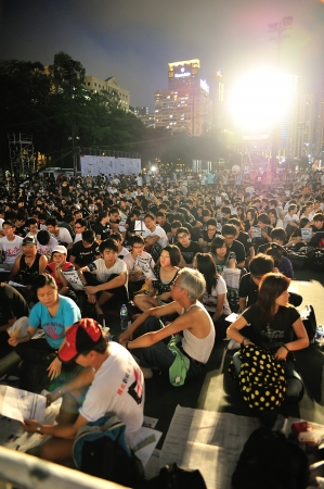 HONG KONG, CHINA - JUNE 4 Memorials for the Tiananmen Square protests of 1989 on 4th June, 2011 in Causeway Bay, Hong Kong  Stock Photo - 16837710