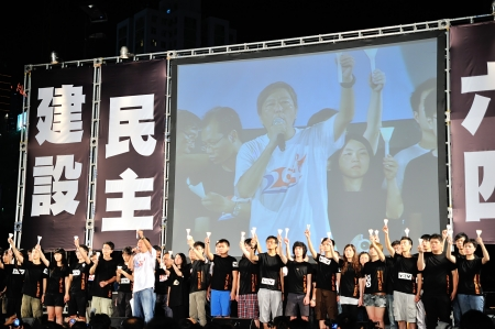 HONG KONG, CHINA - JUNE 4 Memorials for the Tiananmen Square protests of 1989 on 4th June, 2011 in Causeway Bay, Hong Kong  Stock Photo - 16837708