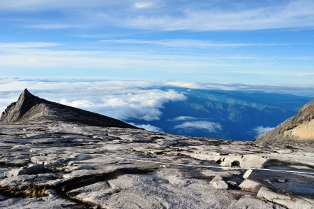 South Peak of Mount Kinabalu with the wide view of below Stock Photo - 16832179