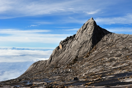 South Peak of Mount Kinabalu. Printed on the bank notes of Malayasia.