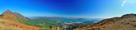 pano: View of nature environment of Hong Kong