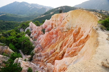 rugged terrain: Gully in Hong Kong, inside mountain