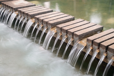 sluice: Waterfall decorate structure in the park