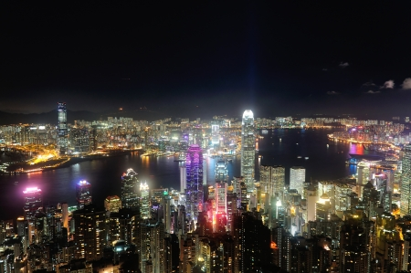 Hong Kong dynamic night, shot from the Peak