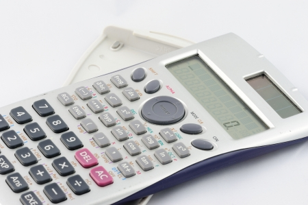 Isolated calculator on white background