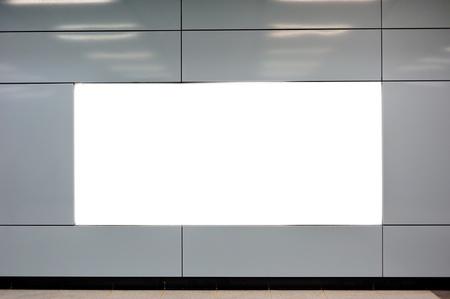 blank billboard: Empty billboard at indoor area Stock Photo