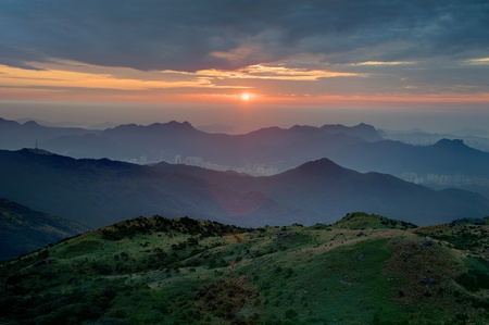 Sunrise in Tai Mo Shan, Hong Kong