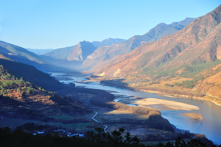 the river: Upper Yangtze river First Bend
