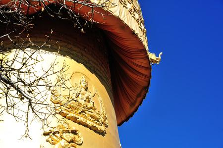 shangrila: Golden Buddish Tower in Shangri-La