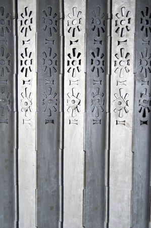 Classic foldding metal gate in Hong Kong old door