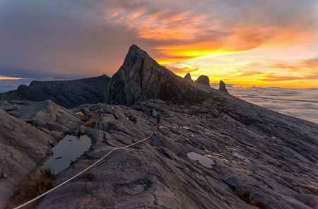 lows: Mount Kinabalu, near Lows Peak, about 3900m. This is sunrise.