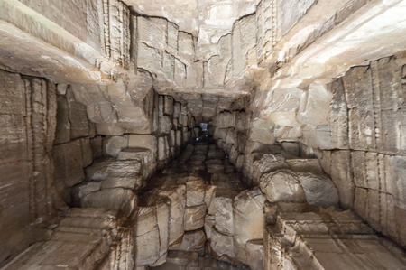 Look up to Angkor Wat ceiling