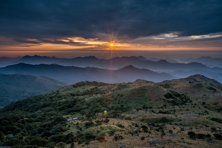 mo: Sunrise in Tai Mo Shan, Hong Kong
