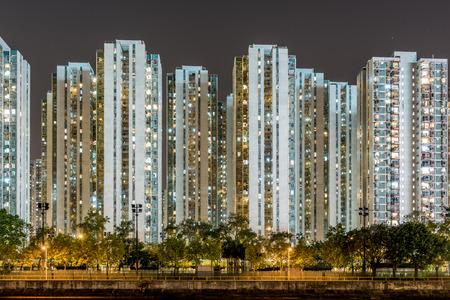 public housing: Wall of building in Hong kong