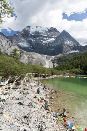 Xian Nairi, a holy snow mountain in China