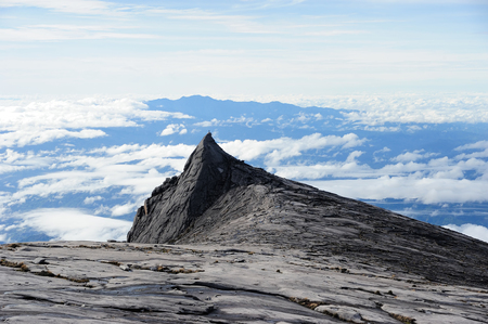 On top of Mount Kinabalu 版權商用圖片