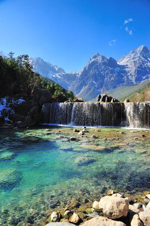Blue Moon Valley in Yulong Snow Mountain Banco de Imagens