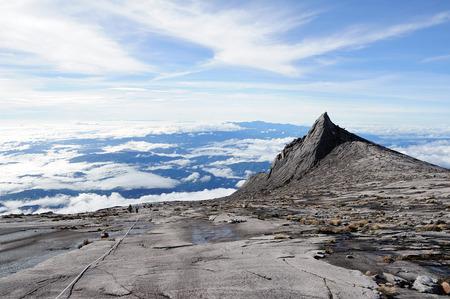 On top of Mount Kinabalu 写真素材