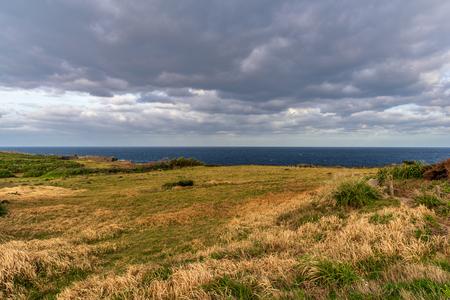 Scenery view surrounding Cape Manzamo in Okinawa, Japan. 版權商用圖片
