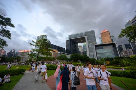 HONG KONG - June 9, 2019: Hong Kong June 9 protest with million of people on the street. Editorial