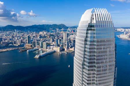 Aerial photo taken in the beautiful coastal area of Hong Kong